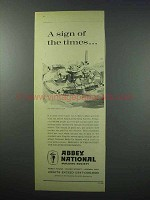 1960 Abbey National Ad - A Sign Of The Times
