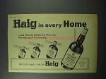 1960 Haig Gold Label Scotch Ad - Every Home