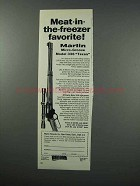 1960 Marlin Model 336 Texan Rifle Ad - Meat in Freezer