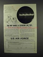 1960 U.S. Air Force Ad - Handle a Situation Like This