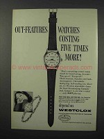 1960 Westclox Ballet Watch Ad - Out-Features
