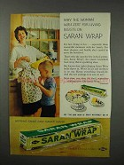 1960 Saran Wrap Ad - Woman With Zest for Living