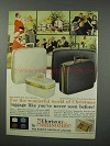 1960 Samsonite Horizon Luggage Ad - Christmas