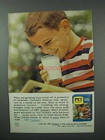 1960 Pet Instant Milk Ad - What Growing Boys Made Of