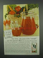 1960 V-8 Vegetable juice Ad - Juice With Oomph