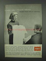 1960 Hanes Underwear Ad - Takes a Wife