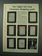 1960 Zippo Cigarette Lighters Ad - Christmas Guide