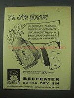 1960 Beefeater Gin Ad - Give Extra Pleasure
