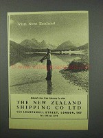 1960 The New Zealand Shipping Co Ad - Visit