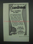 1960 Scandinavia Tourism Ad - Four Vacations in One!