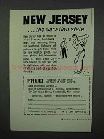 1960 New Jersey Tourism Ad - The Vacation State!