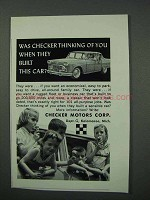 1960 Checker Car Ad - Thinking Of You When Built