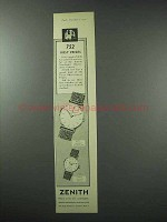 1959 Zenith Watch Ad - 752 First Prizes