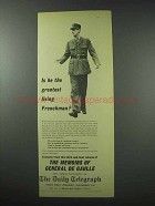 1959 The Daily Telegraph Ad - General de Gaulle