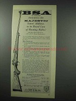 1959 BSA Majestic Rifle Ad - Royal Line of Hunting