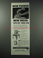 1959 Rockwell Delta Super 900 Radial Saw Ad - Power
