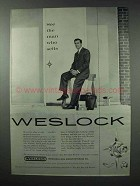 1959 Weslock Hardware Ad - See The Man Who Sells
