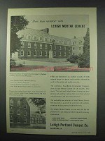 1959 Lehigh Portland Cement Ad - Alden Hall SUNY Albany