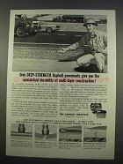 1963 The Asphalt Institute Ad - Deep-Strength Pavements