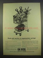 1963 GM Diesel Engines Ad - Parts and Service