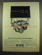 1963 GM Diesel Engines Ad - Power and Economy