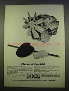 1963 GM Diesel Engines Ad - Choice of the 400