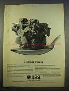1963 GM Diesel Engines Ad - Instant Power