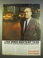 1963 Chemical New York Ad - A Man Works Hard to Get