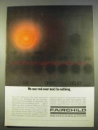 1963 Fairchild Semiconductor Ad - We See Red