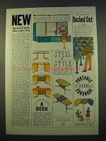 1963 United States Steel Ad - Indoor-Outdoor Living