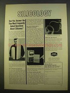 1963 Union Carbide Ad - Questions About Silicones