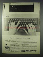 1963 Teletype Printer Ad - Why a 4-Row Keyboard?