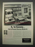 1963 Recordak Portable Microfilmer Ad - Rx for Economy