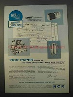 1963 NCR Paper Ad - Saves Us Its Entire Yearly Cost