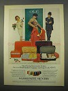 1963 Samsonite Sentry Luggage Ad - Ole