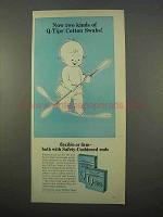 1963 Q-tips Swabs Ad - Now Two Kinds of Swabs