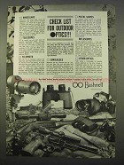 1963 Bushnell Ad - Binocular, Pistol Scopes, Telescopes
