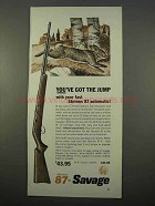 1963 Stevens 87 Automatic Rifle Ad - Got the Jump