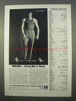 1963 Jaymar Sansabelt Slacks Ad - Strong Man