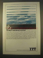 1963 ITT Communications Ad - Horizons Are In Retreat