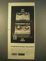 1963 Sony Sterecorder 464-D Ad - Recording & Playback