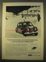 1964 Saab Car Ad - The One That Won at Monte Carlo