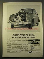 1964 Saab Car Ad - Bonneville Nationals