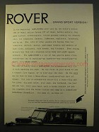 1963 Land Rover Grand Sport Ad!