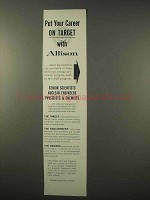 1963 Allison Division of General Motors Ad - Career
