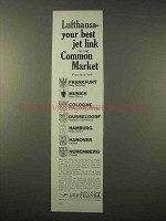 1963 Lufthansa Airlines Ad - Jet Link to Common Market
