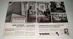 1963 York Yorkaire Air Conditioning Ad - On Command