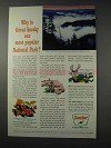 1963 Sinclair Oil Ad - Great Smoky National Park