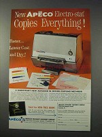 1963 Apeco Electro-Stat Copier Ad - Copies Everything