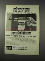1963 Porter Disston D-38 Dial-a-Power Drill Ad